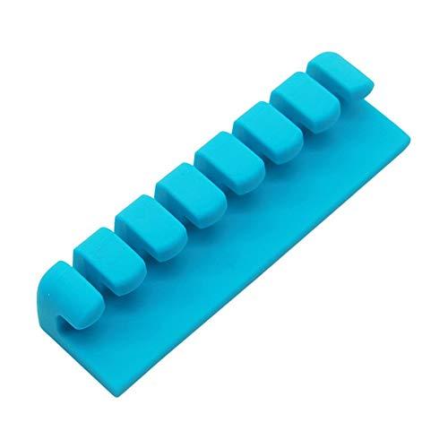 Organizador de cable 3 en 1 USB sujetador de cables de silicona del organizador del cable flexible de gestión de cables sostenedor de la devanadera Teléfono clips for el ratón del teclado del auricula