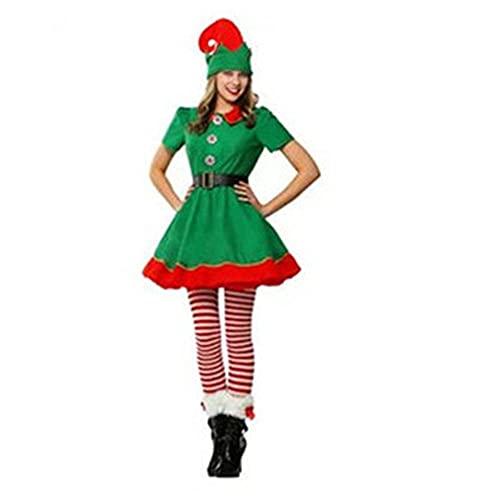 AMZOLNE Disfraces de Halloween, Elfos de Navidad, Disfraces para niños, Disfraces de Baile de Disfraces para Adultos, Disfraces de actuación-Women_180cm