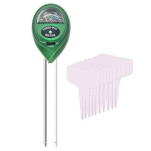 Read About JVSISM Soil PH Meter 3-In-1 Soil Test Kit,Shallow Moisture Tester for Plants, Very Suitab...