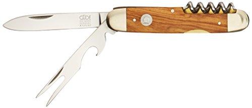 Güde Taschenmesser ALPHA-OLIVE Serie Klingenlänge: 7 cm Olivenholz, X725/07, Messer - Solingen - Deutsche Qualität,  robust - scharf - geschmiedet - hochwertig