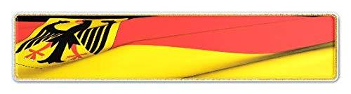Premium 1 Stück Fun Kennzeichen 52cm x 11cm Wunschtext Individuell Wunschkennzeichen Wunschprägung bis zu 19 Zeichen Namens Kennzeichen Namensschild Geburtstag VIELE Farben (Deutschland)