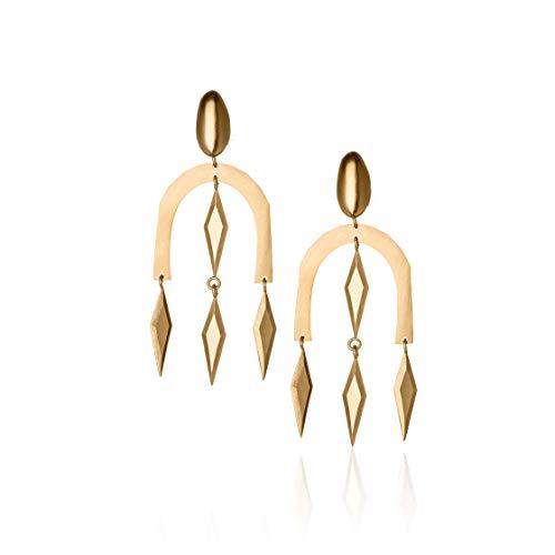Honey Minx Women's Honey Shield Earrings Gold