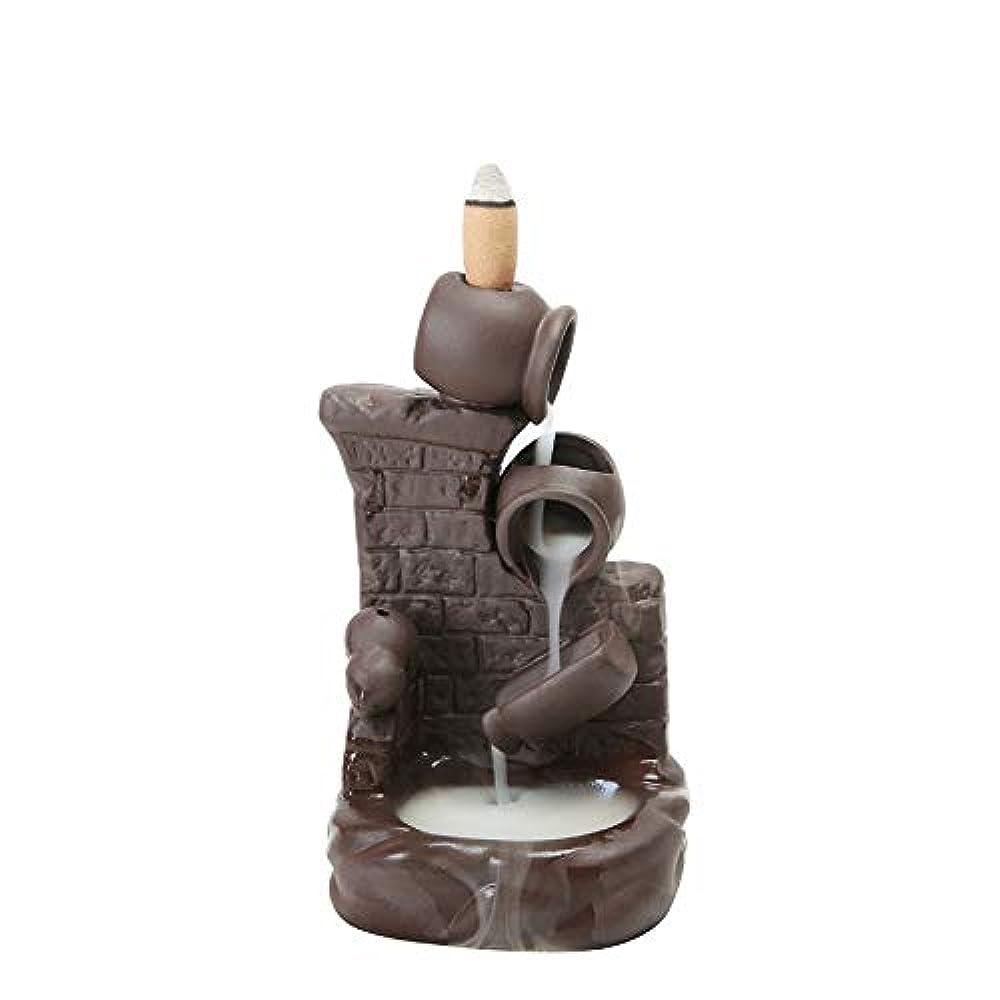 確かめるギャンブルはがき(Style 6) - Gift Pro Ceramic Backflow Incense Tower Burner Statue Figurine Incense Holder Incenses Not Included (Style 6)