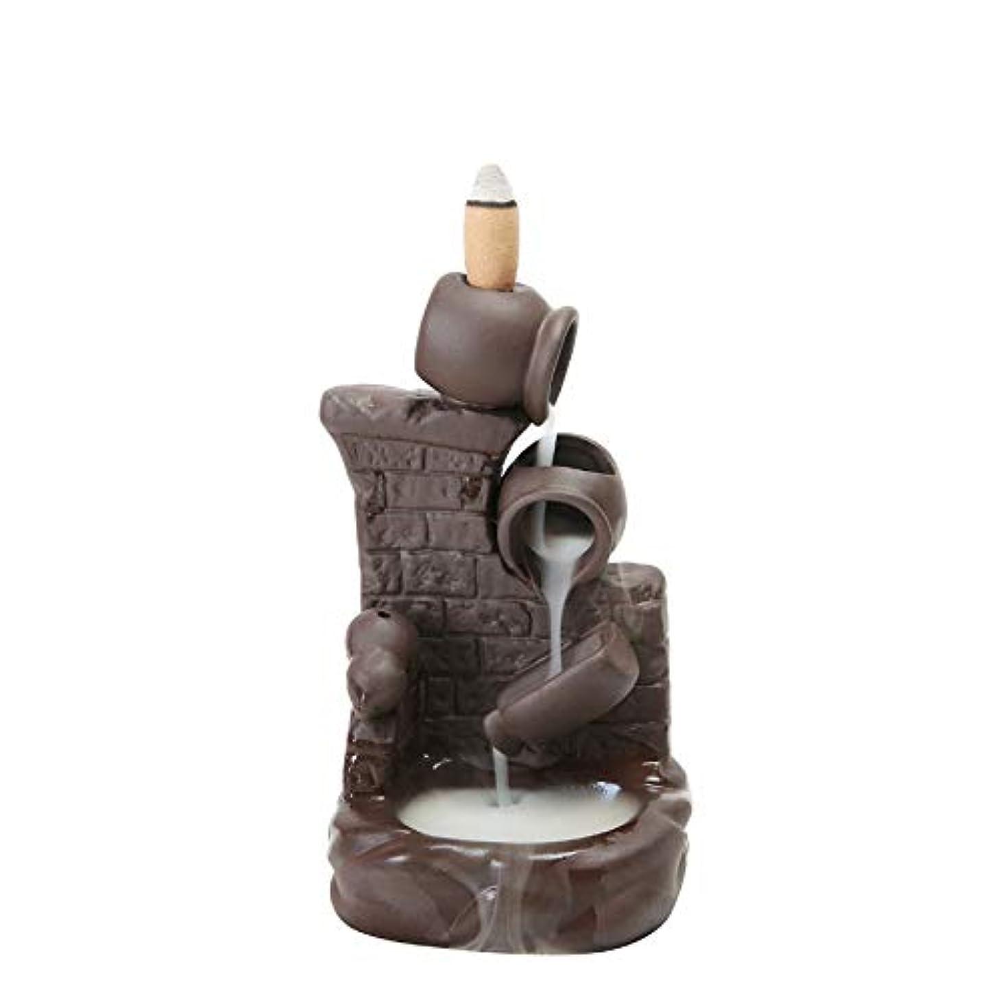自然公園ラップ無駄(Style 6) - Gift Pro Ceramic Backflow Incense Tower Burner Statue Figurine Incense Holder Incenses Not Included (Style 6)