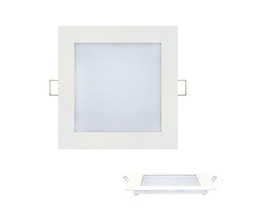 15w Slim Flach LED Panel weiss Einbaustrahler Unterputz Einbauleuchte Einbaulampe Deckenleuchte Deckenlampe Lampe Eckig 195x195 mm Warmweiss