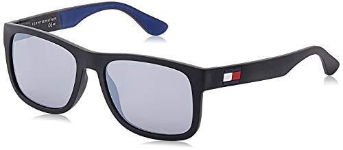 Tommy Hilfiger TH 1556/S Occhiali da Sole, Blk Blue, 56 Uomo