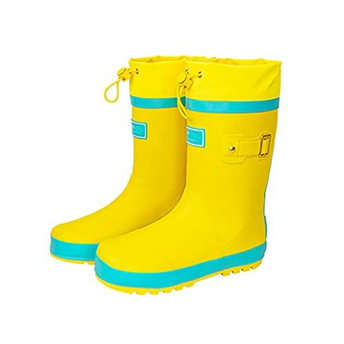 QYTS Regenstiefel für Kinder – Lightning Wasserdicht Resistent Gummistiefel Schuhe – Stiefeletten mit rutschfester Laufsohle PVC