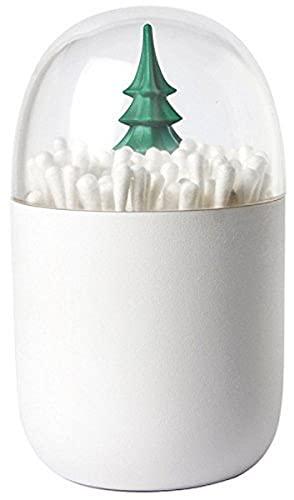 QUALY - qualy boite a coton tiges arbre QL10221GN winter cotton tree