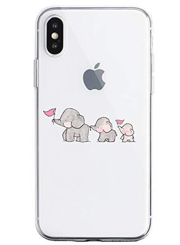 Suhctup Funda para iPhone 5/5S/SE, Carcasa Transparente Ultrafina, Protección Anti Choques y Caídas, Suave Silicona,Funda Anti Arañazos Diseño de Dibujos Animados Compatible con iPhone 5/5S/SE