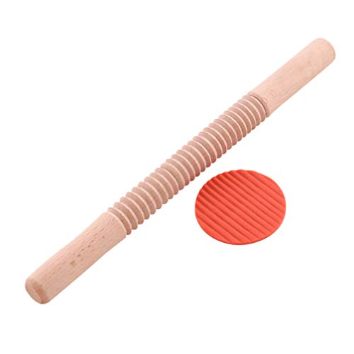 Yarnow 1pc Tagliatelle Cutter Rolling Pin Non-stick Rolling Pin Practical Wooden Lightweight Baking Tool Rolling Pin for Home Restaurant