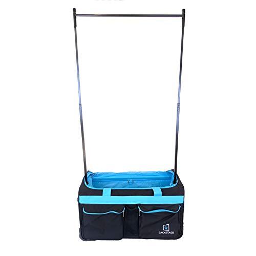 Backstage Dance Travel Bag with Garment Rack - Black/Turquoise