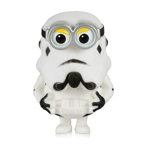 Schlüsselanhänger Star Wars Figur Action Darth Vader Stormtrooper Modell Spielzeug Wacky Wobbler Wackelkopf The Head Can Be Rocked Car Styling Anime Schlüsselanhänger (Farbe Name: Weiß)