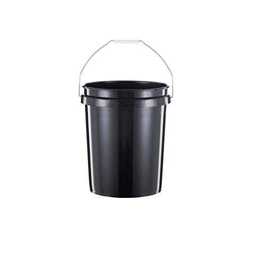 United Solutions 5 Gallon Bucket, Heavy Duty, Comfortable Handle, Easy to Clean, Perfect for on the Job or Household Cleaning; Black