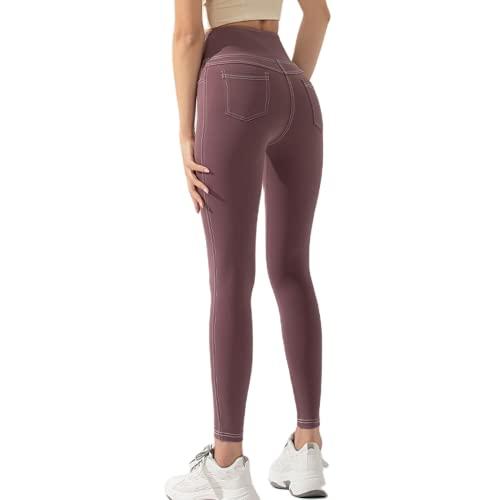 Pantalones de Yoga para Levantar la Cadera de Cintura Alta, Flexiones, Medias de Secado rápido, Deportes de Gimnasio, Correr, Ejercicio, energía, Pantalones elásticos BL