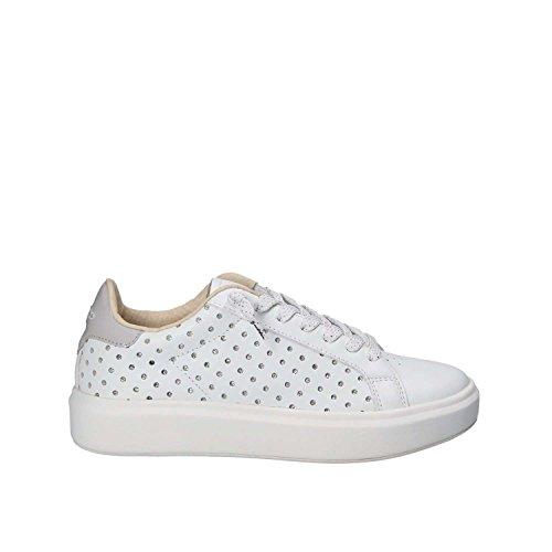 Lotto Leggenda Sneakers Donna T4609 Impressions Glitter Bianco Nuovo