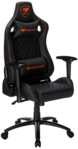 COUGAR Armor-S Luxury Gaming Chair (Black), 1 black chair gaming