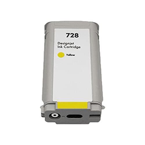 RICR Remanufactured Compatible Los Cartuchos De Tinta para HP 728 XL, Reemplazo De Trabajo De Alto Rendimiento para HP DesignJET T830 T730 Plotter Yellow
