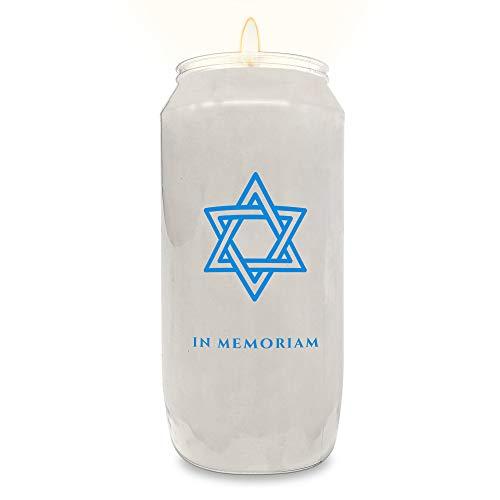 Ner Mitzvah Velas conmemorativas de 7 días – Tarro de plástico con