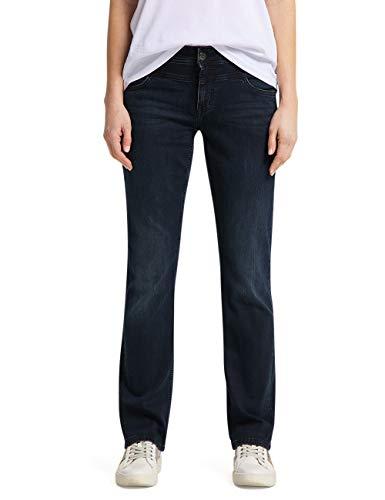 Mustang Sissy Straight Jeans, Bleu Foncé, 34W/ 34L Femme