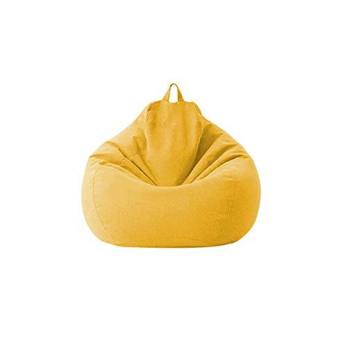 Modonghua Sitzsackbezug Sessel Sofa Couch Abdeckung ohne Füller, Lazy Lounger Sofa Stuhlbezug Hohe Rückenlehne Sitzsack gefüllt für Wohnzimmer, Schlafzimmer, Spielzimmer, Schlafsaal
