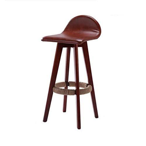 NAN liang Tabouret de bar pivotant en bois avec tabourets de pub de mode rembourrés en tissu rembourré Faux-PU pour chaise haute pour cuisines, 4 couleurs (H63CM / H71CM)