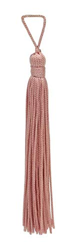 Set of 10 Light Rose Pink Chainette Tassel, 10cm Long with 25mm Loop, Basic Trim Collection Style# RT04 Color:Light Rose Pink - 07