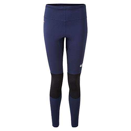 Gill Leggings de Course pour Femmes - Bleu foncé - Protection Solaire UV Facile à étirer et Properties SPF - Drying Rapide - Protection UV 50+