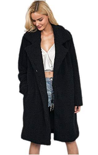 作業日報のための女性のフェイクファーロングパーカー生き抜くふわふわロングスリーブカジュアル分厚い外套