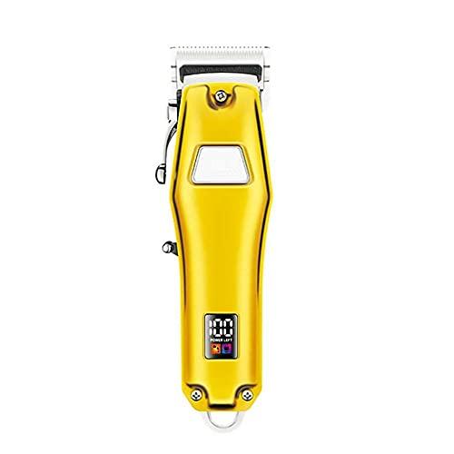 Maquina cortar pelo, Push-Cut American Golden Retro Hair Store Home Portable Fader Eléctrico-2