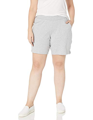 Just My Size Women's Plus Cotton Jersey Pull-On Shorts - 2X Plus - Light Steel