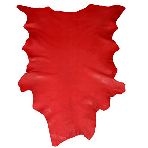 Glacier Wear Select Buckskin Leather - Red (7.00 to 7.75 sq ft)