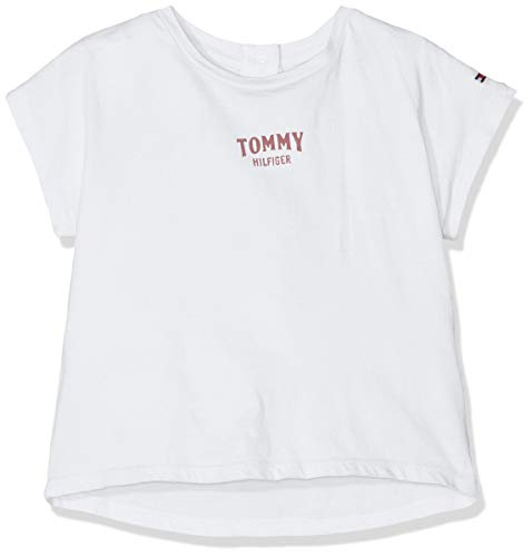 Tommy Hilfiger Small Logo Grown On S/s tee Camiseta, Blanco (Bright White 123), 86 para Bebés