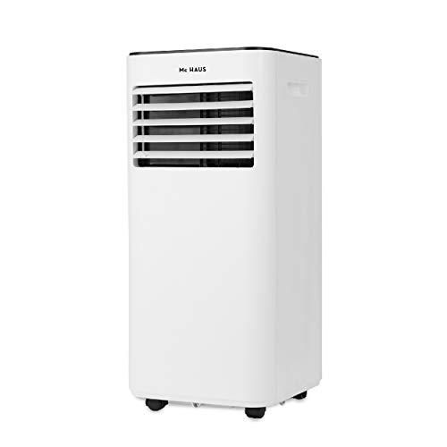 Mc Haus ARTIC-260 Condizionatore portatile caldo/freddo 9000BTU classe A, 4 in 1: raffreddamento, riscaldamento, ventilazione e deumidificatore, controllo remoto, fino a 18m², colore: bianco