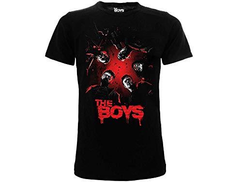 Fashion UK T-Shirt The Boys Originale Ufficiale Serie TV Maglia Maglietta Adulto Ragazzo Nera (XXS)
