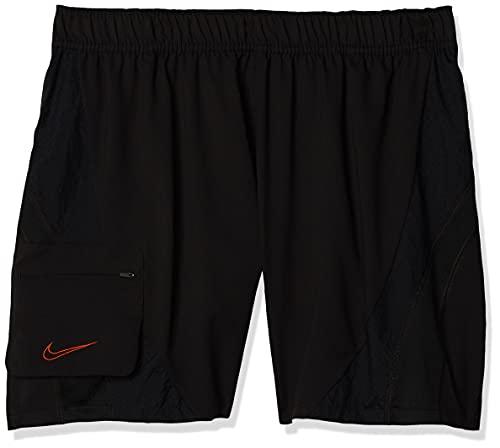 NIKE M NK Short Px Sport Shorts, Hombre, Black/Black/Black/Team Orange, L