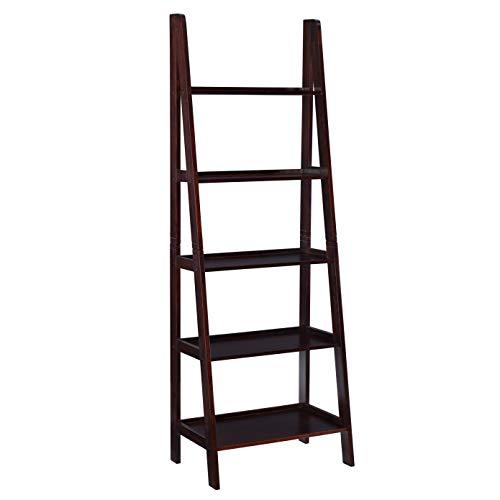 Linon Gleason Modern Classic Espresso Ladder Bookshelf