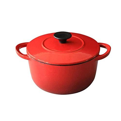 NXYJD Utensilios de Cocina de Aluminio Fundido con Tapa, cambiarlo de Sitio fácil, for Todos Olla Fuente de Calor por inducción, calefacción rápida, Horno Arriba Seguro