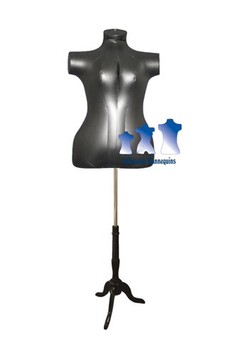 Inflatable Female Torso, Plus Size, with MS7B Stand, Black