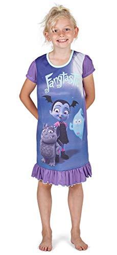 Camicie da notte per bambine a tema personaggi Disney, Re Leone, Aladdin, Cenerentola, Paw Patrol, La Sirenetta   Prodotto Ufficiale per bambini, abbigliamento da notte Vampirina 3-4 Anni