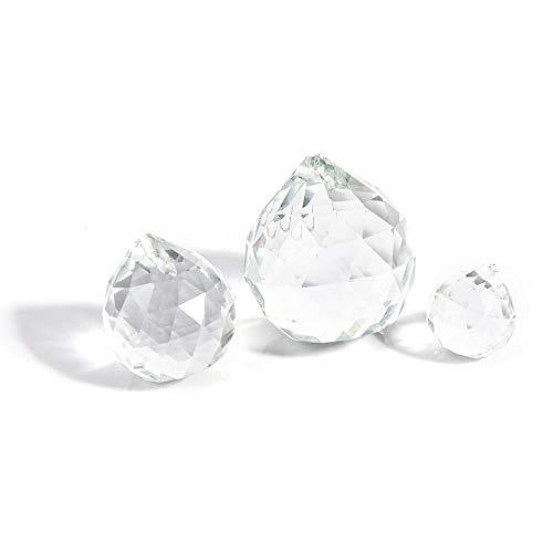 Home Decor 20/30 / 40mm Helder Facet Glas Crystal Ball Prism Kroonluchter Kristallen Onderdelen Hangende Hanglamp Ball Suncatcher, 20mm