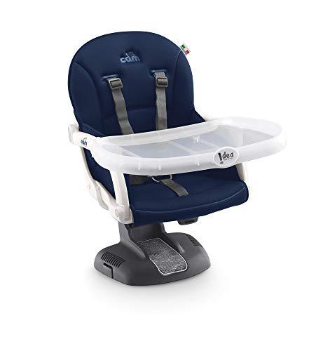 CAM Sitzerhöhung Idea Innovativer Boostersitz & Reisekindersitz | versch. Farben und Motive | flexibel einsetzbar | leicht zu transportieren (Blau)