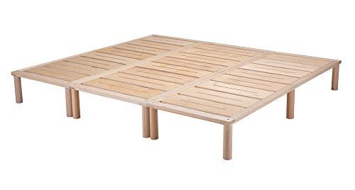Gigapur G1 29746 Bett | Co-Sleeping | Birke Natur Schicht-Holz | belastbar bis 195 kg je Element | 220 x 200 cm best. aus 2 x 70, 1 x 80 cm