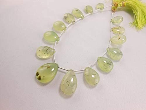 lowest price GemAbyss Beads Gemstone Sale special price Natural Faceted Prehnite Pear