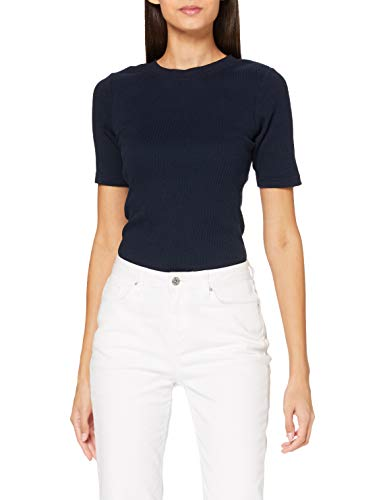Lee Womens Ribbed Tee T-Shirts, Sky Captain, L