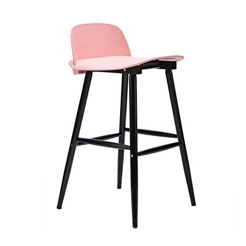 Chaise de Bar, avec Dossier et Repose-Pieds, Hauteur du comptoir, Tabouret de Bar en Bois de Soild, tabourets Hauts légers, comptoirs de Cuisine pour Le Petit-déjeuner, pour intérieur/extérieur