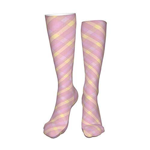 Plaid Baby Girls Clip Art 19.8 Inch Compression Socks High Boots Stockings Long Hose for Yoga Walking for Women Man