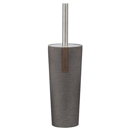 Sealskin Toilettenbürste Pierra, WC-Bürstengarnitur aus Polyresin, Farbe: Grau