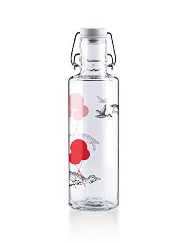 soulbottles 0,6l • Flug der Pinguine • Trinkflasche aus Glas • plastikfrei, nachhaltig vegan …