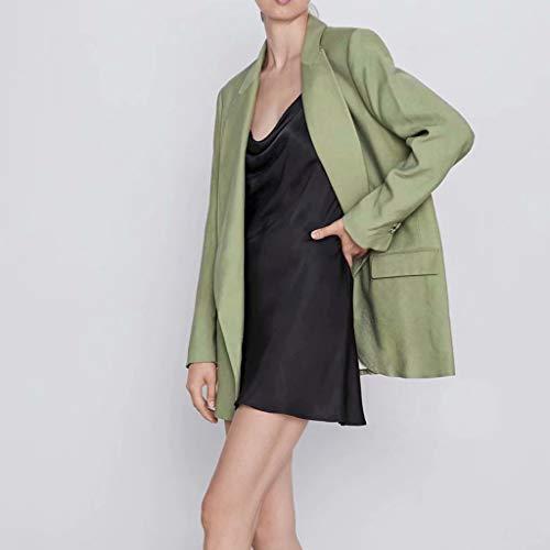 Vovotrade Dames kostuum jas dames lang blazer dames elegant business jas blazer kantoor jas oversized damesmode lange mouwen mantel omlegkraag blazer jas