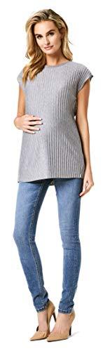 Noppies Tee SS Nelly T-Shirt Premaman, Grigio (Light Grey Melange P054), 46 (Taglia Produttore: L) Donna